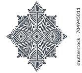 tribal art boho hand drawn... | Shutterstock .eps vector #704945011