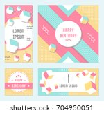 elegant modern flyers and cards ... | Shutterstock . vector #704950051