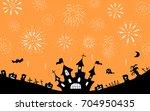 halloween night background | Shutterstock .eps vector #704950435