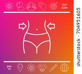 women waist  weight loss  diet  ... | Shutterstock .eps vector #704951605