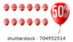 red balloons discounts for... | Shutterstock .eps vector #704952514