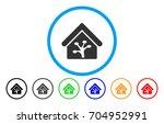 plant glasshouse vector rounded ... | Shutterstock .eps vector #704952991
