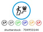 person steps to crown vector... | Shutterstock .eps vector #704953144