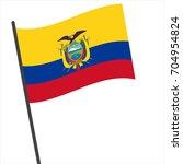 flag of ecuador   ecuador flag... | Shutterstock .eps vector #704954824