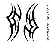 tribal tattoo art designs.... | Shutterstock .eps vector #704957215