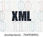 programming concept  painted... | Shutterstock . vector #704958901