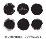 grunge circle set.vector round... | Shutterstock .eps vector #704961031