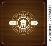 oktoberfest beer festival... | Shutterstock .eps vector #704966884