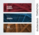 design of web banners with... | Shutterstock .eps vector #704967424