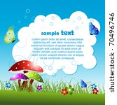 vector nature background with... | Shutterstock .eps vector #70496746