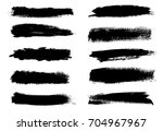 collection of grunge brush... | Shutterstock .eps vector #704967967