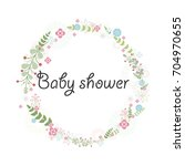 baby shower for newborn... | Shutterstock .eps vector #704970655