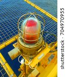 Small photo of Navigation light on the oil & gas offshore wellhead platform.New model august 2017.
