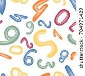 mathematical seamless pattern... | Shutterstock .eps vector #704971429