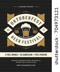 oktoberfest beer festival...   Shutterstock .eps vector #704973121