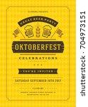 oktoberfest beer festival... | Shutterstock .eps vector #704973151