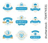 oktoberfest celebration beer... | Shutterstock .eps vector #704974531