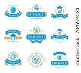 oktoberfest celebration beer... | Shutterstock .eps vector #704974531