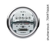 electrical meter isolated on... | Shutterstock .eps vector #704976664