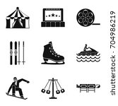 active life icons set. simple... | Shutterstock .eps vector #704986219