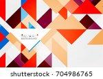 triangle pattern design... | Shutterstock . vector #704986765