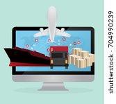 logistics and transportation of ...   Shutterstock .eps vector #704990239