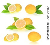 collection of lemons | Shutterstock . vector #70499464