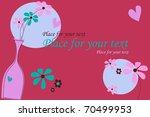 valentine birthday card with...   Shutterstock .eps vector #70499953
