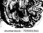 black and white liquid texture. ... | Shutterstock .eps vector #705001561
