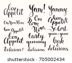 bon appetit  tasty  delicious ... | Shutterstock .eps vector #705002434