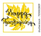 the inscription of a happy... | Shutterstock .eps vector #705002809