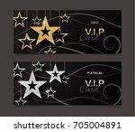 vip golden and platinum card... | Shutterstock .eps vector #705004891