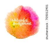 watercolor brush paint. hand... | Shutterstock .eps vector #705012901