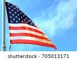 american flag backgrounds | Shutterstock . vector #705013171