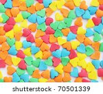 Texture from the candies in form of heart - stock photo