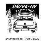 drive in tasty food   retro ad... | Shutterstock .eps vector #70501627