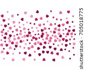 heart confetti border isolated...   Shutterstock .eps vector #705018775