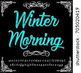 handcrafted winter morning... | Shutterstock .eps vector #705020419