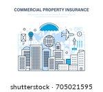 commercial property insurance.... | Shutterstock .eps vector #705021595