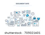 document safe concept. document ... | Shutterstock .eps vector #705021601
