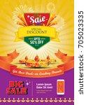 big sale festival offer... | Shutterstock .eps vector #705023335