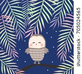 owl on a branch | Shutterstock .eps vector #705024565