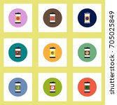 collection of stylish vector... | Shutterstock .eps vector #705025849