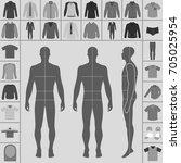 men's large clothing outlined...   Shutterstock .eps vector #705025954