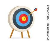 target with arrow  standing on... | Shutterstock .eps vector #705029335