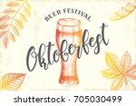oktoberfest celebration design...   Shutterstock . vector #705030499