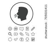 talk or speak icon. loud noise... | Shutterstock .eps vector #705031411