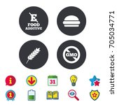 food additive icon. hamburger...