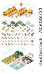 build your own city . set of... | Shutterstock .eps vector #705038731