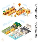 build your own city . set of... | Shutterstock .eps vector #705038764